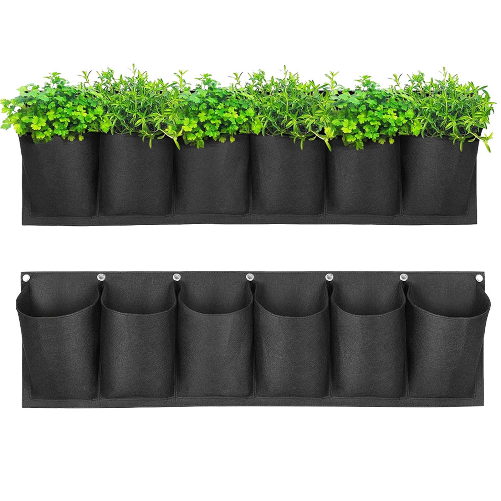 6 карманов для выращивания растений сумки Нетканый завод сумка, сумка для растений, завод питания сумки чувствовал завод мешок расти ящик дл...