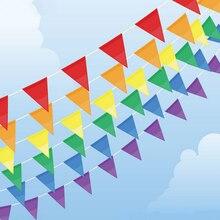 18 drapeaux blanc bleu jaune feutre banderoles drapeaux Mariage Vintage fête de Mariage décoration bannière maison mariée douche banderoles guirlande