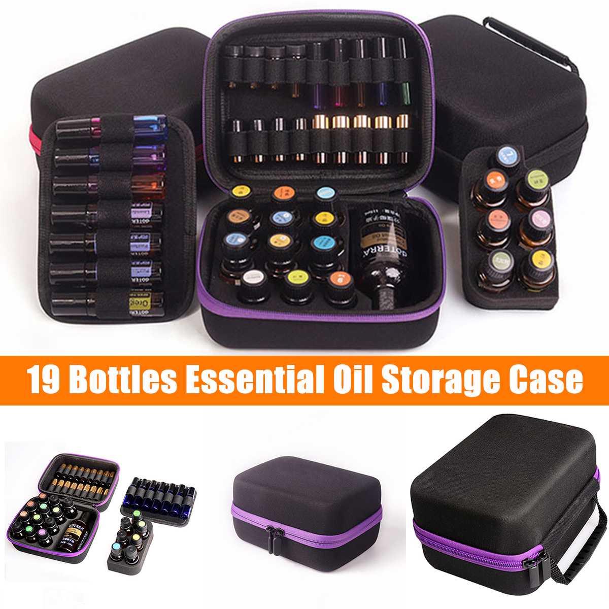 Bolsa de almacenamiento de aceite esencial 19 botellas 5ML 10ML 15ML portátil de viaje Perfume botella de aceite esencial organizador bolsa de recogida