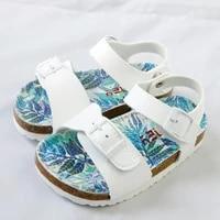 summer kids shoes corks 2020 fashion pu leathers children sandals for girls toddler breathable jungle design girl school shoes