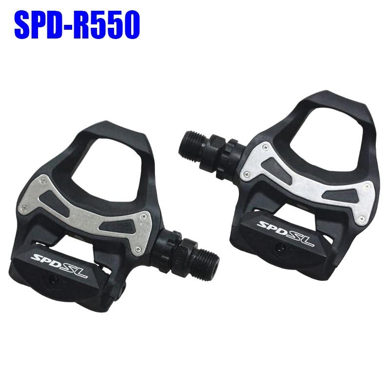 Pedales de bicicleta de carretera, SPD-SL de PD-R550, Pedal de bloqueo automático...