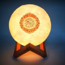 Touch Moon Lamp Quran Speaker Islam Bluetooth Speaker Wireless Muslim 3D Moon Night Light Remote Con