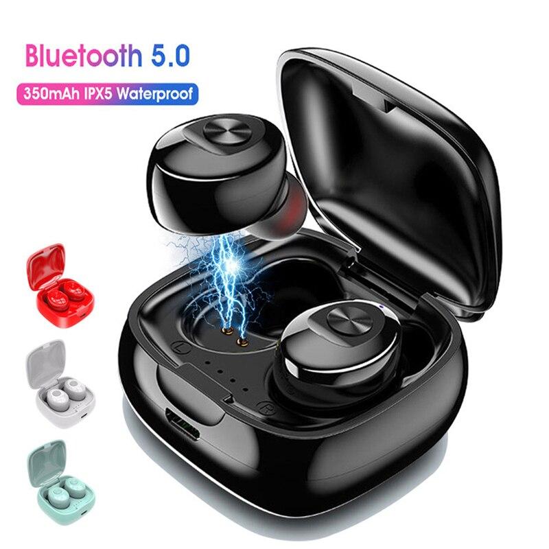 Rovtop Bluetooth 5,0 TWS auriculares inalámbricos auriculares estéreo con micrófono HIFI auriculares deportivos auriculares para Gaming para teléfono