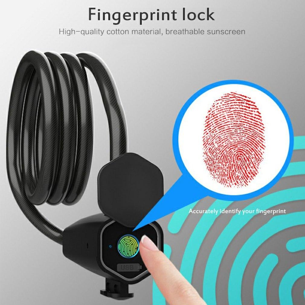 Fingerprint Unlocking Mobile App Wireless Smart Lock Quick Unlock Electronic Lock For Motorcycle Mountain Bike enlarge