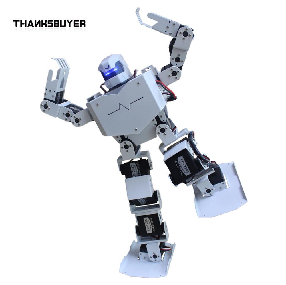 Thanksbuye 16DOF Robo-Soul H3s Biped Robtic Two-Legged Human Robot Aluminum Frame Kit with Helmet Head Hood-only  humanoid robot