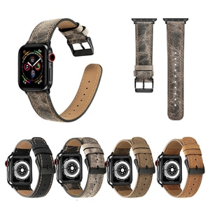 watch Accessories for apple watch band 42mm 38mm 44mm 40mm iwatch apple watch strap series 6/5/4/3/2/SE Genuine Leather bracelet
