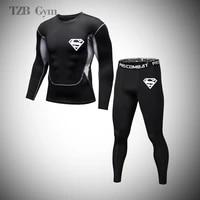 rashguard sportswear mma fitness jogging boxing jiu jitsu sportswear cycling track and field basketball mens training tights