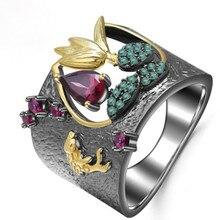 2020 Vintage Jewelry Creative Ring Women Punk Rock Fashion Rings For Women Fashion Zircon Ring Female Wedding Rings Gift Ladies