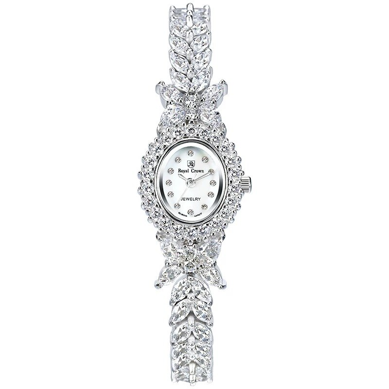 Top Sell Qualtiy AAA Zircon Elements Leaf Austrian Crystal Bracelet Watch for Wedding Party Fashion Jewelry Made with Wholesale
