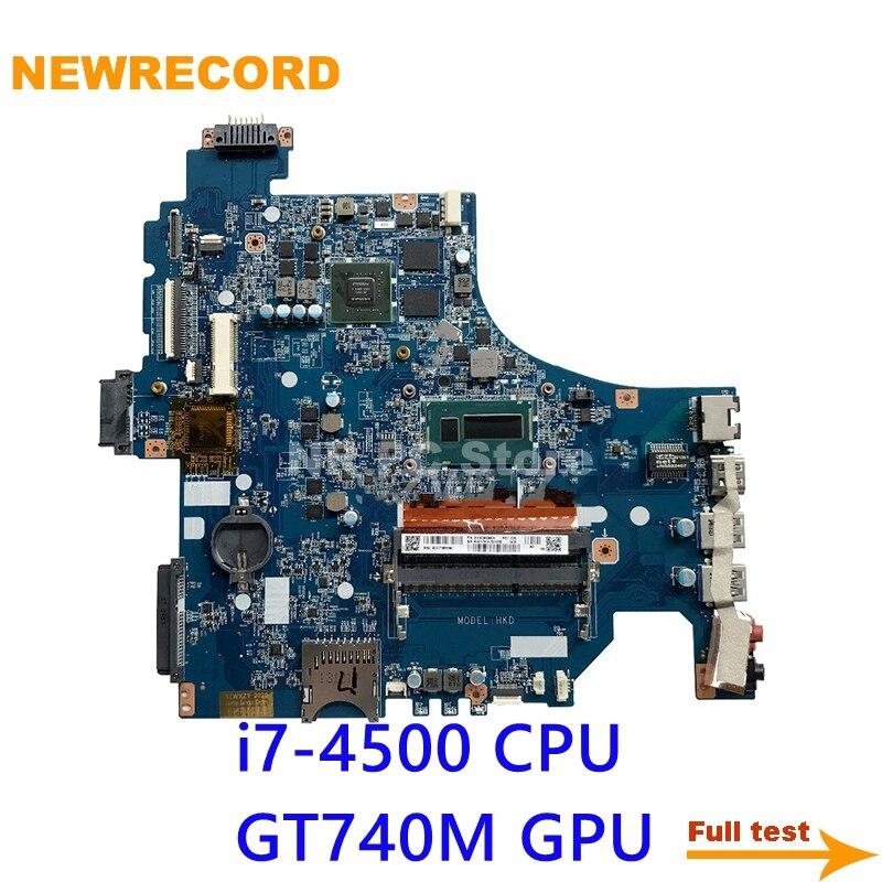 NEWRECORD A1971741A DA0HKDMB6D0 لسوني SVF153 اللوحة المحمول مع SR16Z i7-4500 CPU GT740M GPU اللوحة الرئيسية اختبار كامل