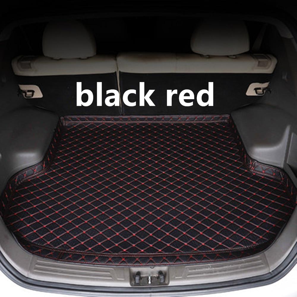 SJ, lado alto, estera de maletero de coche a prueba de agua, bandeja trasera de coche con forro, accesorios de almohadilla trasera de carga para Ford Mustang 2012 2013 14 15-2020