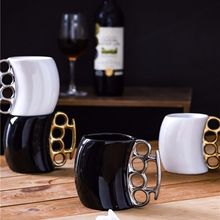 Tasse à café créative en laiton tasse à café en céramique tasse à café en porcelaine avec des cadeaux de nouveauté en laiton
