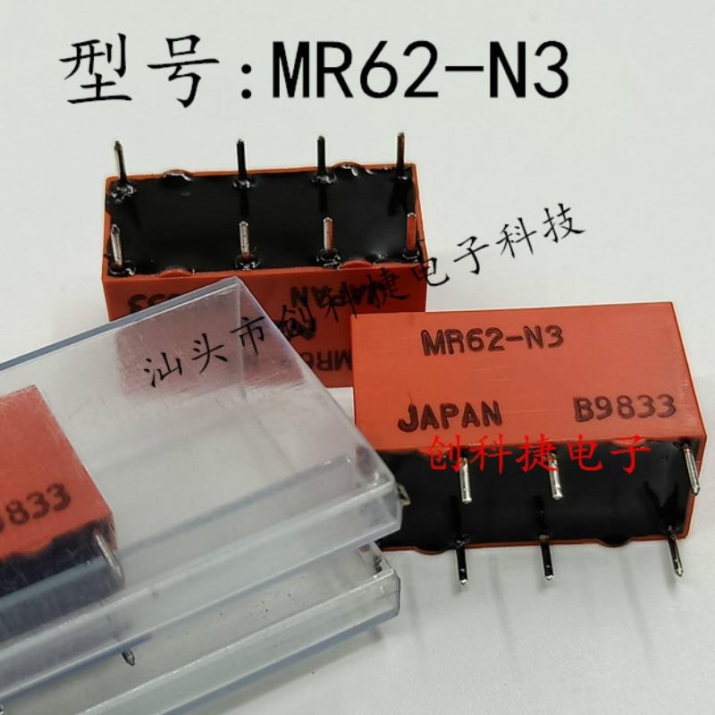 [Em estoque] 10 pces brandnew genuine relé de sinal MR62-N3 8 pinos dois abrir dois próximos fonte de alimentação de emergência