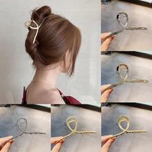 Ruoshui Woman Metal Hair Claws Hair Accessories Chic Barrettes Hairclips Hairpins Ladies Hairgrip Headwear Girls Ornaments Crab