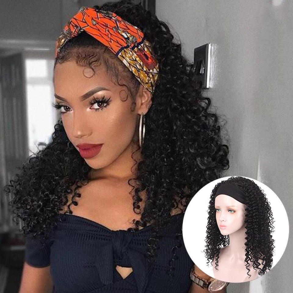 houyan longo encaracolado cabelo africano bandana encaracolado kinky medio encaracolado