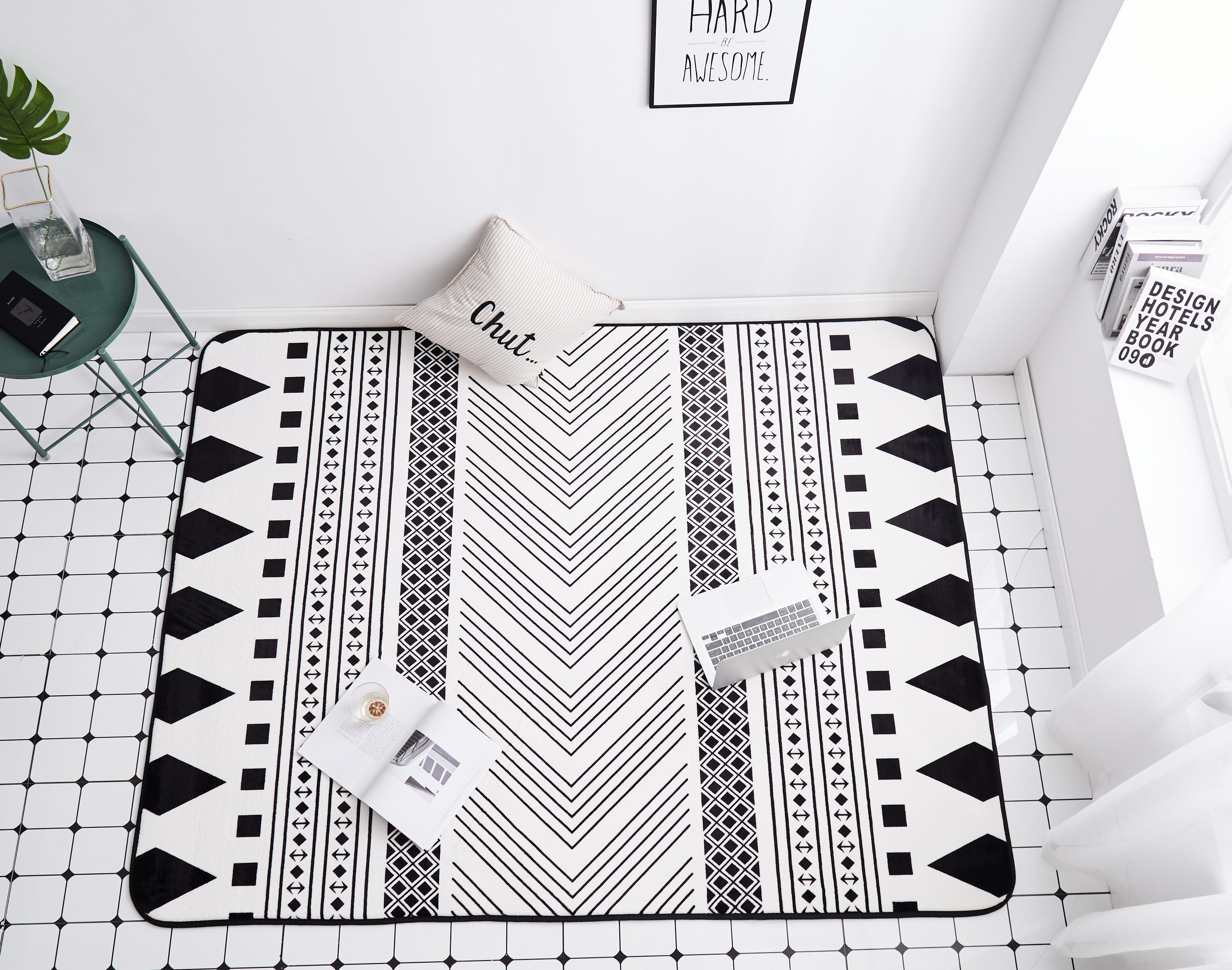 Alfombra suave para sala de estar Felpudo de baño antideslizante Alfombra rectangular...