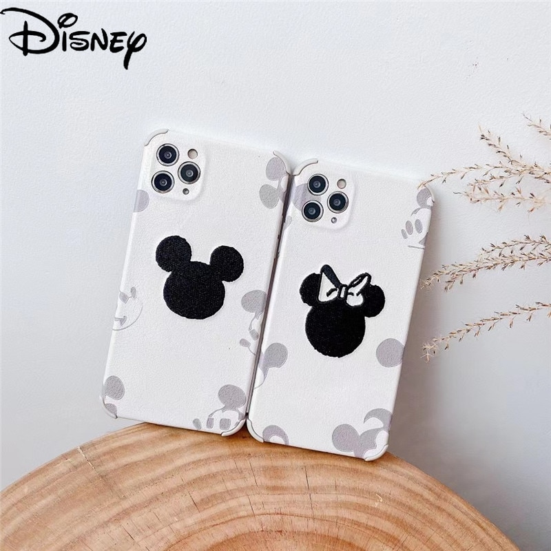 Disney Mickey Minnie for iPhone11/12ProMax mobile phone case XR/12/7Plus/8/x/xsmax couple mobile phone cover  - buy with discount