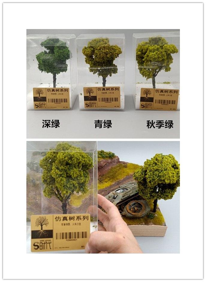 Modelo de construcción de plantas de árboles de simulación militar arena Mesa modelo tren escena DIY materiales microadornos para paisajismo
