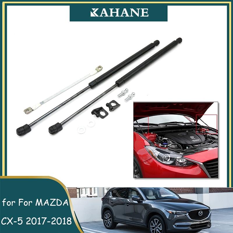 2 Pcs Car Front Bonnet Hood Lift Support Damper Assist Slowdown Strut Gas Accessories For Mazda CX-5 CX5 KF 2017 2018 2019