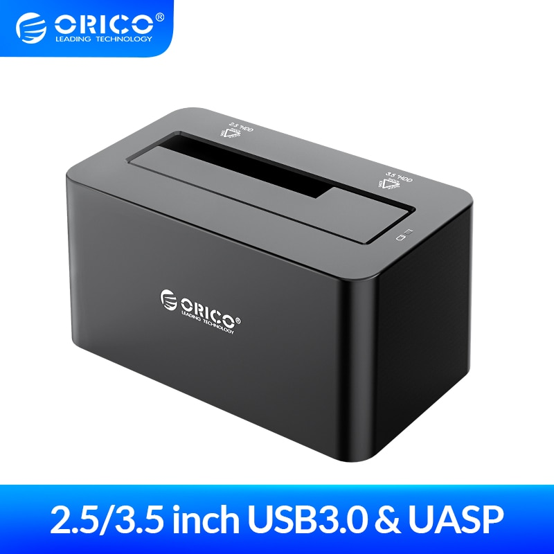 ORICO 2.5/3.5 inch USB3.0 to SATA HDD Docking Station Hard Disk Box 8TB with 12V2A Power Adapter Hard Drive Case Enclosure