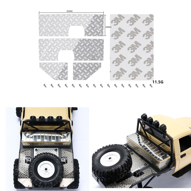 DJ Modified Parts Car Metal Skid Plate Decorative Sheet Toy Car Parts For WPL RC Truck Toy Car