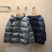 premium quality polyamide oversized lightweight quilted hooded elegant lady down coat