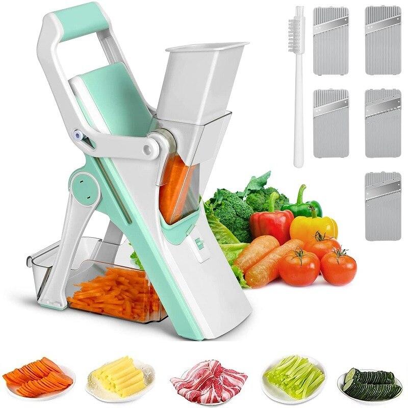 قطاعة مندولين سكين مطبخ قطاعة الخضراوات المقلية دليل مبشرة المهنية مع قابل للتعديل 304 الفولاذ المقاوم للصدأ kitch