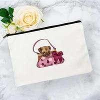 french bulldog cosmetic bag for makeup mini womens travel free shipping bags make up storage organizer woman kawaii handbags