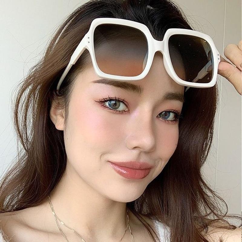 Простые квадратные солнцезащитные очки 2021, женские солнцезащитные очки, корейские очки, модные винтажные женские солнцезащитные очки