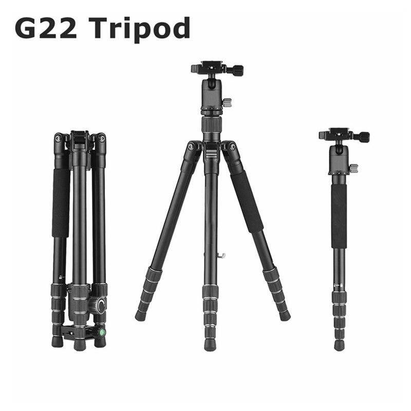 Camera Tripod Professional for Canon Nikon Sony DSLR Portable Lightweight Photography Stand Camera Monopod Aluminum Ball Head