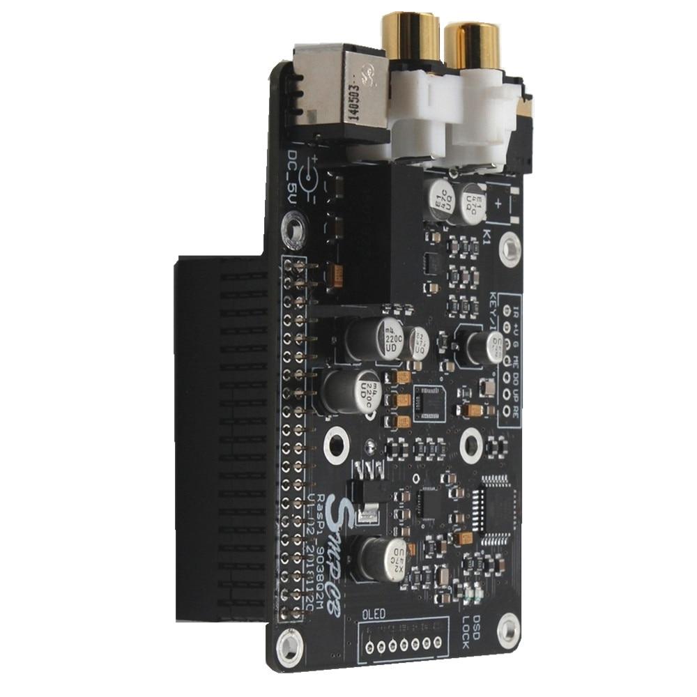 Taidacent I2S 5,1, convertidor de Audio analógico a Digital, 32 bits, 384KHZ, DSD128 Dac, convertidor de Audio Digital Raspberry Es9038