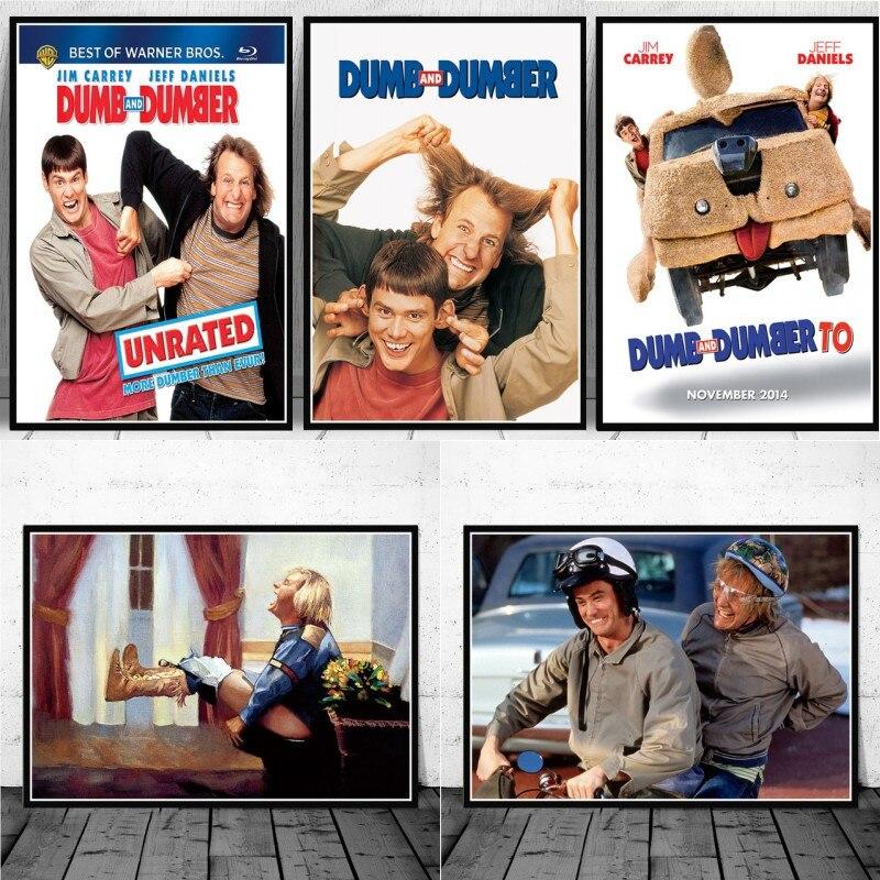 Dumm und Dümmer Bad Jim Carrey Film Lustige Leinwand Malerei Poster und Drucke Kunst Wand Bild Decor Quadro Cuadros Nein rahmen