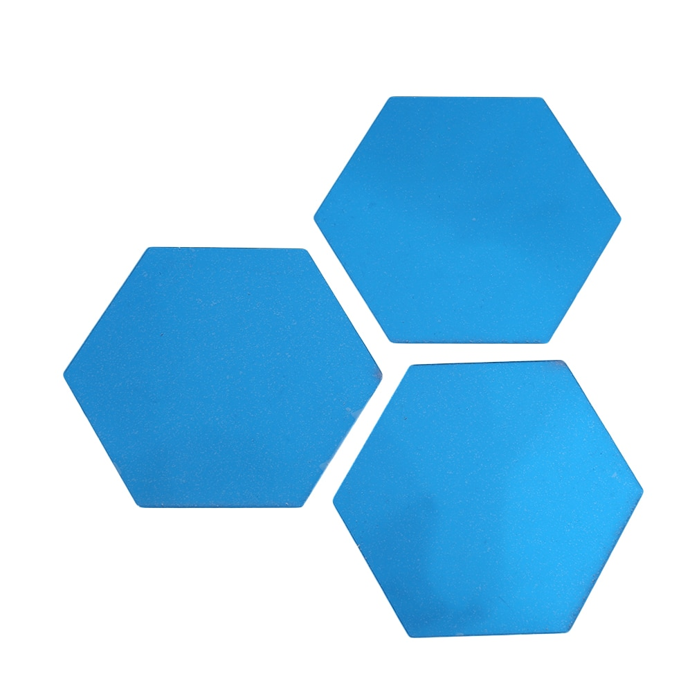Hexagonal tres espejo dimensional etiqueta de la pared de restaurante pasillo piso pintado a mano decoración espejo pegatina Etiqueta de Casa pared de fondo