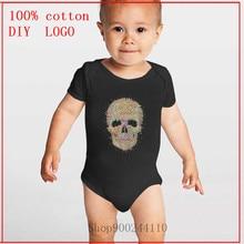 Acid Skull Designs Bodysuit Baby Newborn Baby One-Pieces Summer Rompers Jumpsuit Ropa de bebe Infant