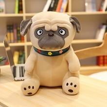 Plush Pug Toys Simulation Dog Doll Soft Stuffed Animal Shar Pei Pug Plush Pillow Kids Toy Soft Lifelike Cartoon Dolls Girl Gift
