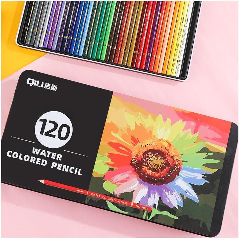 120 cores de madeira colorido lápis conjunto lapis de cor artista pintura a óleo cor lápis para a escola desenho esboço arte suprimentos