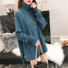 Women Sweaters And Pullovers 2021 New Autumn Winter Thickened Turtleneck Ladies Knit Clothing  Casua