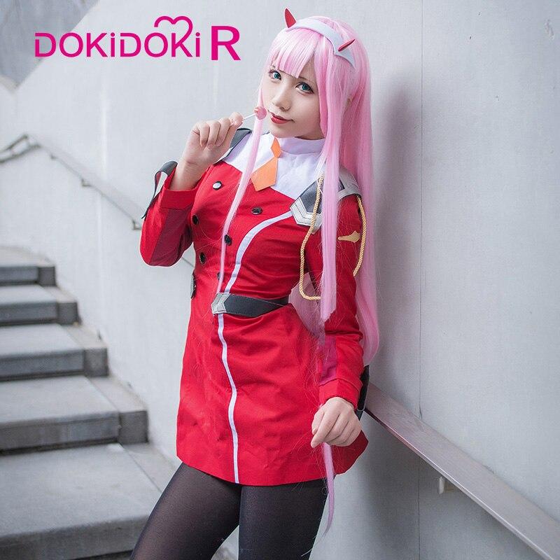 Dokidoki-r Cosplay de Anime DARLING in the FRANXX Zero Two Cosplay CODE 002 disfraz de mujer DARLING in the FRANXX Cosplay