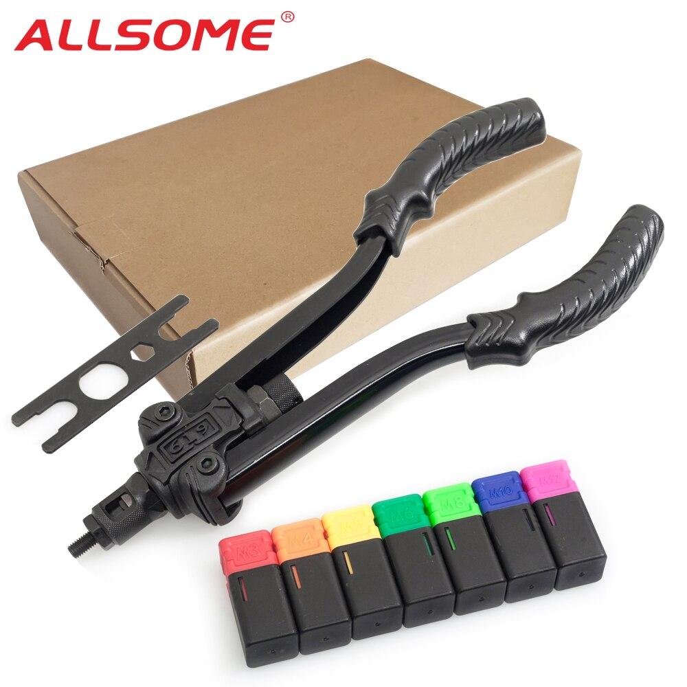 ALLSOME 619, tuerca remachadora, herramienta de remache, tuerca remachadora, herramienta de remache de inserción de remache Manual, tuerca remachadora, herramienta de remaches