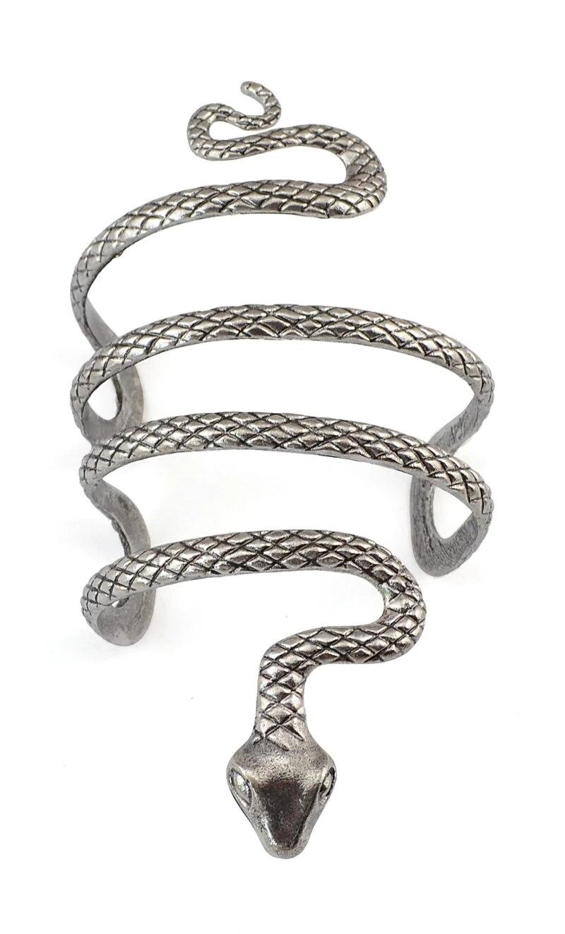 Vintage Bohemian Armband Punk Tibet Color Imitated Snake Shape Fashion Open Bangle Cuff Bracelets Men Women Unique Jewelry