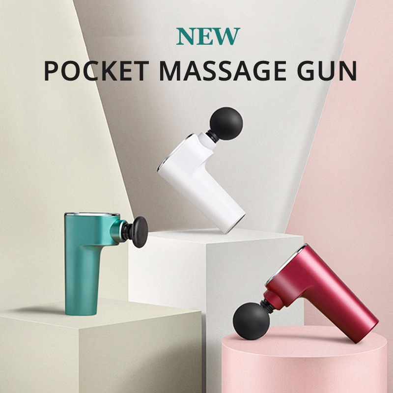 Mini Massage Gun Muscle Relaxation Pain Relief USB Rechargeable Back Massager Guns for Fitness Vibrating Fascia Gun Health Care недорого