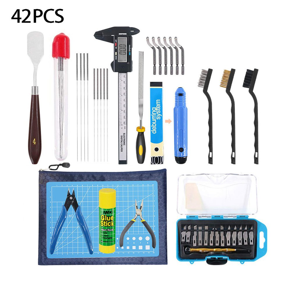 42pcs/set 3D Printer Cleaning And Disassembly Tools DIY Kit 3D Printer Accessories Tools For Printing Disassembly Cleaning