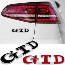 Auto Stamm Kotflügel GTD Logo Aufkleber 3D Für Volkswagen VW Golf Vento CC R32 Phaeton Arteon EOS Scirocco Variante Diesel abzeichen Decals