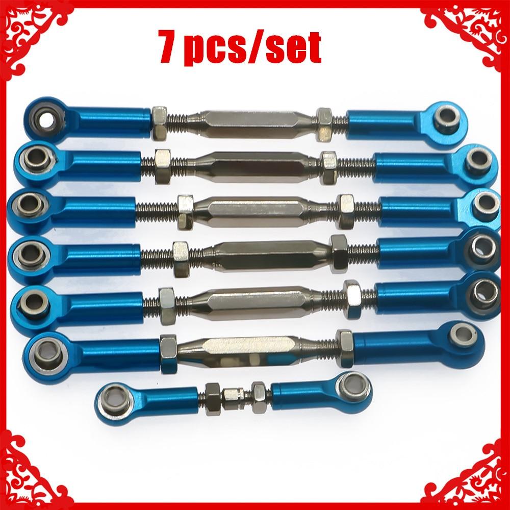 Liga + aço conjunto completo de torniquetes de varas de gravata para rc hobby modelo carro 1/10 traxxas slash 2wd curto curso atualizar peças