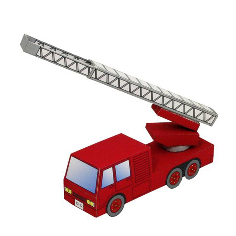 Vehículo ignífugo para motor de coche, Mini cortador plegable hecho a mano, modelo de papel 3D DIY, pisapapeles para niños, juguetes de Origami artesanal para adultos, ZX-089
