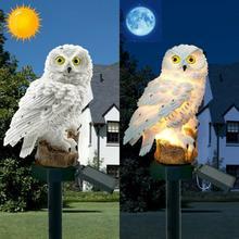Gufo Luce Solare Con Pannello Solare del LED di Falsificazione Del Gufo Impermeabile Luce Solare del Giardino Decorativo Gufo Animale Uccello Casa Esterna Giardino luce
