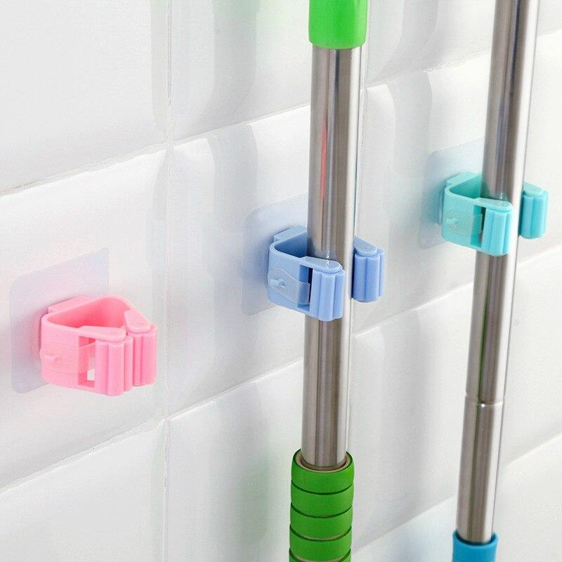 1 PCS Mopp Und Besen Halter Organizer Mop Garten Lagerung Rack Küche Werkzeug Aufhänger Falten Rack Metall Werkzeuge Hinter Türen/auf Wände