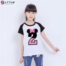 LYTLM 2nd Birthday Girl Tee Shirt Fille Happy Birthday Toddler Girl Tops Roupa Infantil Toddler Tshirt Kids T Shirts for Girls