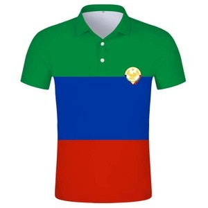 DAGESTAN POLO shirt free custom made Makhachkala POLO shirt print flag DIY Russian Russia Rossiya Kizlyar Khasavyurt clothes