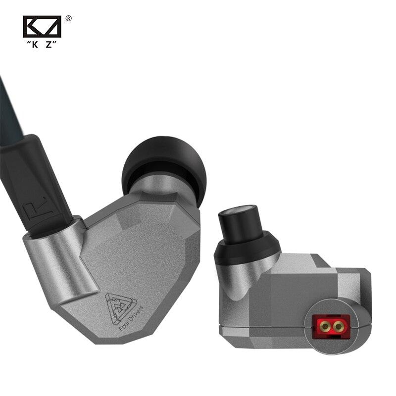 Fone de Alta Fones para kz 2dd + 2ba Híbrido Ouvido Fidelidade dj Monito Correndo Esporte Zs10 – Zsn Pro As10 As16 kz Zs5 no